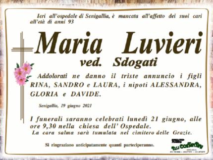 Necrologio di Maria Luvieri