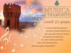 """""""Musica al Tramonto"""" a Barbara"""