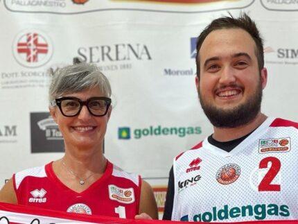 Sonia Fileri e Luigi Giacomelli - presidente e vice presidente Pallacanestro Senigallia