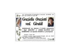 Necrologio Graziella Orazietti ved. Giraldi