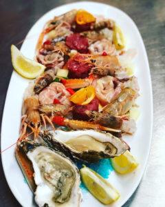 Piatti di pesce del ristorante Il Mare in Terrazza di Senigallia