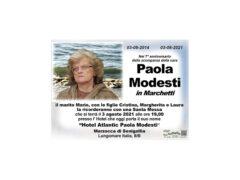 Anniversario Paola Modesti