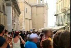 Manifestanti ad Ancona