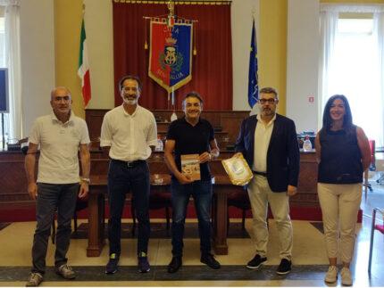 Claudio Chiappucci in visita a Senigallia