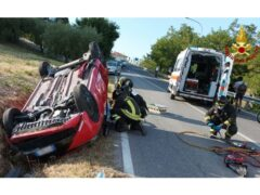 Incidente stradale a Ripe: intervento dei Vigili del Fuoco