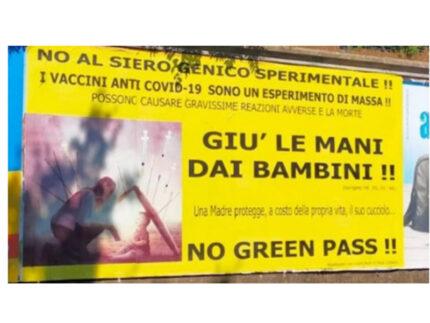 Nuovi manifesti no vax a Senigallia