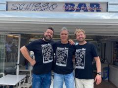 Michele, Roberto e Konstantin, gestori dello Skizzo Bar di Senigallia