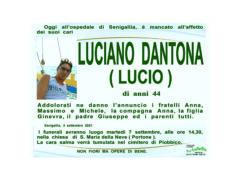 """E' mancato all'affetto dei suoi cari il 44enne Luciano """"Lucio"""" Dantona"""