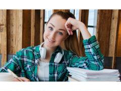 Studentessa, scuola, studio