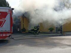 Incendio in viale IV Novembre