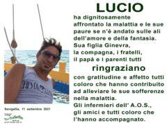 Ringraziamenti relativi alla scomparsa di Luciano Dantona