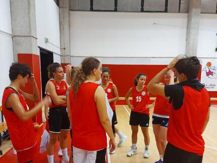 Basket 2000 Senigallia in allenamento