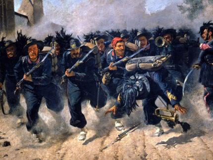 Bersaglieri entrano a Roma dalla breccia di Porta Pia