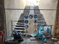Lavori di manutenzione al sottopasso pedonale Perilli