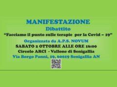 Dibattito sulle terapie Covid-19, sabato 2 ottobre a Senigallia