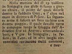 Meteoriti su Senigallia il 19 settembre 1786