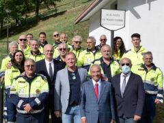 Protezione Civile di Ostra Vetere a Longarone per intitolazione scalinata dr. Mario Fabbri