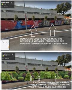 Modifiche proposte da Maurizio Tonini Bossi per il parcheggio dell'ospedale