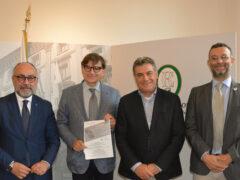 Massimo Bello, Dino Latini, Massimo Seri a Palazzo delle Marche