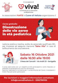 Locandina corso disostruzione delle vie aeree in età pediatrica