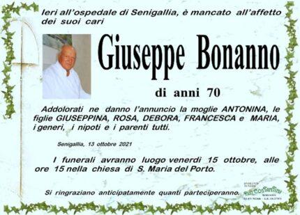 Giuseppe Bonanno, necrologio