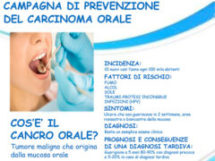 Campagna di prevenzione del carcinoma orale a Senigallia