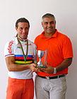 il campione Mauro Guenci premiato dall'Assessore Campanile