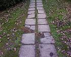 Le lastre di cemento al Vivere Verde a Senigallia com'erano prima della risistemazione