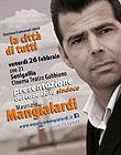 Manifesto della presentazione del candidato Mangialardi al Cinema Gabbiano di Senigallia