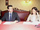 Il Sindaco Maurizio Mangialardi e l'avvocato Sabina Sartini
