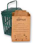 Il sacchetto per l'umido in carta con il contenitore in plastica