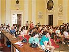 I ragazzi dello stage lavorativo premiati nell'aula consiliare di Senigallia