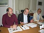 Paolo Battisti, Roberto Mancini e Luigi Rebecchini
