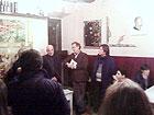 L'Assessore Schiavoni e Luciano Montesi alla presentazione delle opere di Enrico Dignani a Senigallia