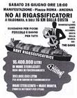 Volantino per la manifestazione di sabato 25 giugno ad Ancona