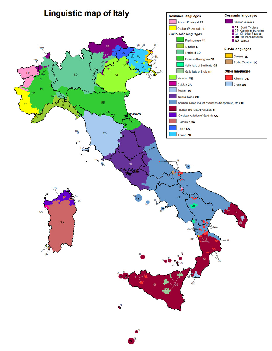 Cartina Italia Senigallia.L Italia Non Finisce A Senigallia Breve Ricerca Sul Dialetto Gallo Italico Senigallia Notizie