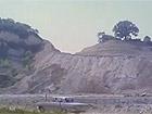 """Una scena del film """"La belva col mitra"""" girato a Senigallia nel 1977: la cava di San Gaudenzio"""