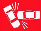 Cartello di incidente stradale