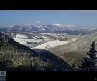 10/04/2021 - L'ultima neve di primavera? Paesaggio da Arcevia verso Sassoferrato