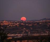 28/01/2021 - Luna al tramonto