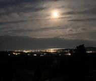 30/03/2021 - Senigallia da Roncitelli, risplende la luna sul mare