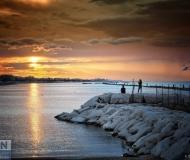 26/10/2020 - Tramonto spiaggia di ponente