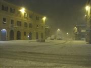 Largo Puccini sotto la pesante nevicata