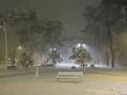 Giardini Catalani durante la bufera di neve