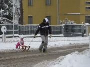Tanta neve per la gioia dei bambini