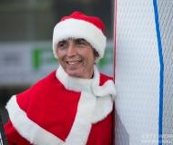 I protagonisti della sfilata in SUP dei Babbi Natale