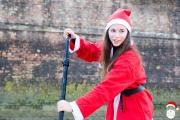 Corteo di Babbi Natale in SUP sul Misa a Senigallia