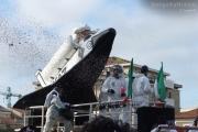 Carro allegorico per il carnevale a Senigallia