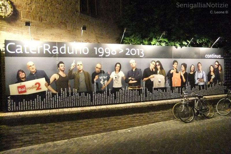 La gigantografia che celebra 15 anni di CaterRaduno
