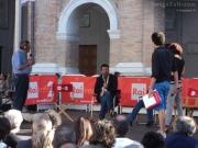 Sul palco di Caterpillar il Sindaco di Senigallia Maurizio Mangialardi